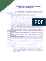 Actiunea Erbicidelor in Plante Si Influenta Asupra Proceselor Metabolice