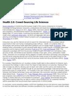 Crowd-Sourcing Life Sciences « Maxiom Group Blog