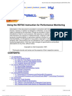 Using the RDTSC Instruction for Performance Monitoring Rdtscpm1