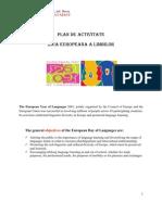 Plan Activitati Ziua Europeana a Limbilor