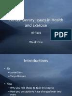 HPP301 Week One Slides