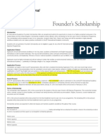 IA 11 Founders Scholarship Gen Info