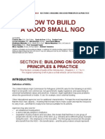 Good Small NGO Principles
