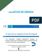 registos de lingua