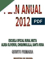 Plan Anual Quinto Primaria 2012
