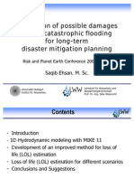 Estimation of Possible Damages Due to Catastrophic Flooding for Long-term Disaster Mitigation Planning