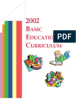 2002 Basic Education Curriculum