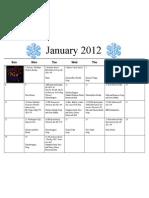 Shortcut to January 12 Calendar