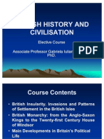 British History and Civilisation. Lecture 1. 1.