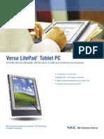 NEC Versa LitePad VL-PAD-933 Brochure