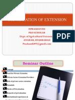 Privatisation of Extension -ANGRAU