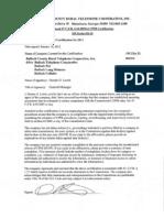 Bulloch CPNI Certification & Statement