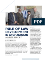 Rule of Law Development in Afghanistan
