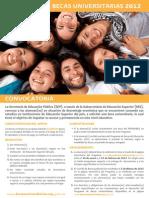 Programa de Becas Universitarias 2012