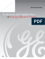 Evaluation and Application of Energy Efficient Motors