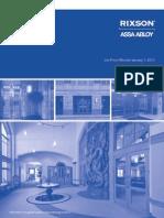 Rixson Price Book 2012