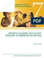 Growth is Good but Not Enough to Improve Nutrition