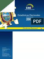 ESTADÍSTICAS ELECTORALES 2009