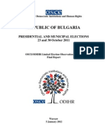 Occe on Bg Presidential Elections 2011