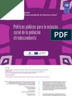Políticas públicas para la inclusión de la población afrocolombiana