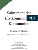 238 Sakrament der Erstkommunion / Kommunion - Irrlehre der Kirche