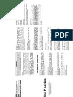 Instrucciones MM850388-00 Mini P
