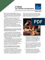 Gender, Nutrition & Agriculture