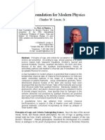 Charles W. Lucas, Jr- A New Foundation for Modern Physics
