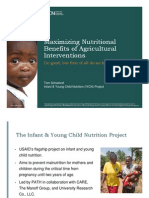 Maximizing Nutritional Benefits of Agricultural Interventions