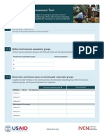 Nutritional Impact Assessment Tool (Worksheet)