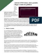 El Cambio a Un Entorno GNU