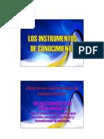 1- Instrumentos de Conocimiento