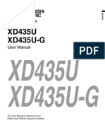 XD435U G Manual