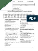 (Economia) Prova Intercalar 1 com Resolução - Economia II