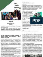 Las Bases Gritan Lucha - Programa Politico FEUCN 2012