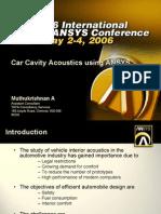 Ansys Car Cavity Acoustic 253