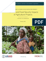 Nutrition and Food Security Impacts of Agriculture Projects