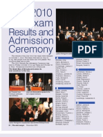 July 2010 Bar Exam Results and Admission Ceremony