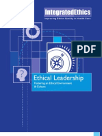 Ethical Leadership Fostering an Ethical Environment and Culture 20070808