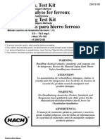 Iron (Ferrous) Test Kit Manual, Model IR-18C, Color Disc Kit 26672-00