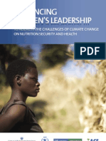 Enhancing Women's Leadership to Address the Challenges of Climate Change on Nutrition Security and Health