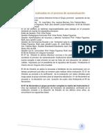 Actividades realizadas en el proceso de autoevaluación12