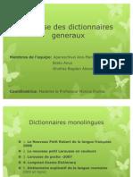Analyse Des Dictionnaires Generaux