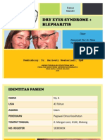 Dry Eyes Syndrome and Blepharitis
