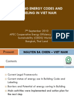 Building Energy Code Presentation (Viet Nam)
