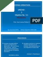 Unidad III- Obj.3.1 Procesos en Los SO