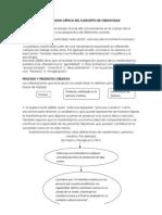 UNA REVISION CRÍTICA DEL CONCEPTO DE CREATIVIDAD