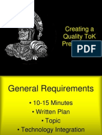 Tok Presentation Guidelines