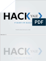 Week 1 of HackYale Ruby on Rails course