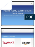 Playing Twenty Questions With The Universe